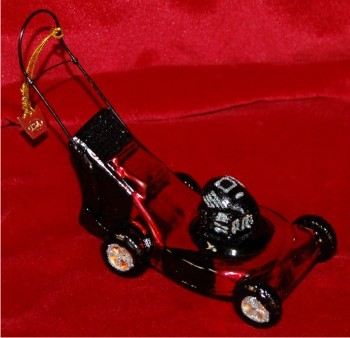 Red Lawnmower Glass