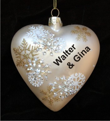 To Celebrate our Love Christmas Heart Glass
