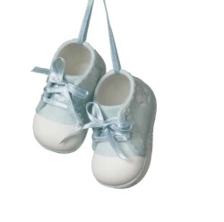 Sturdy-fire Porcelain Blue Baby Shoes