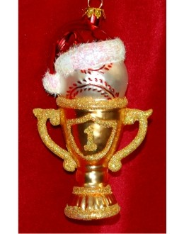 #1 Baseball Trophy Glass