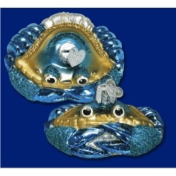 Blue Crab Blown Glass