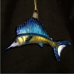 Sailfish Blown Glass
