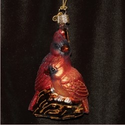 Cardinals in Love Glass