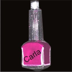 Pretty in Pink Nail Polish Glass
