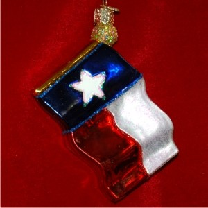 Texas State Flag Glass