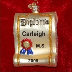 Graduation Diploma Glass