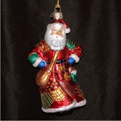 Patchwork Santa Glass