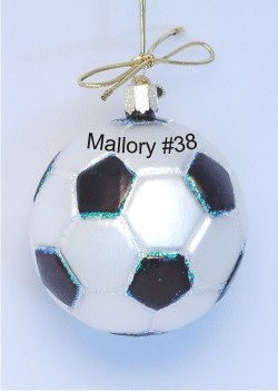 Soccer Ornament Glass