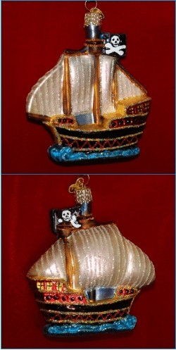 Pirate Ship Glass