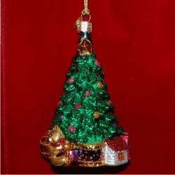 Christmas Tree Bedazzled Glass