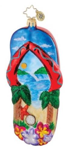 Beach Bound Christmas Sandals