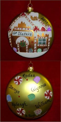 Family Gingerbread House Glass