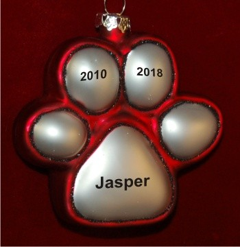 Beloved Dog Memorial Paw