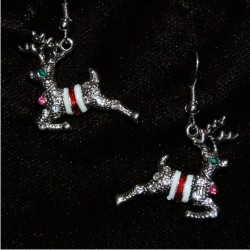 Christmas Earrings - Holiday Reindeer