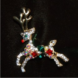 Christmas Brooch - Reindeer