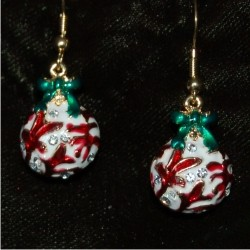 Christmas Earrings - Christmas Tree Ornament