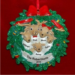 Reindeer Wreath for 5