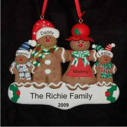Gingerbread Family of 4