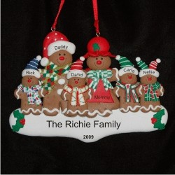 Gingerbread Family of 6