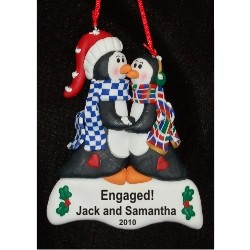 Kissing Penguins Engagement