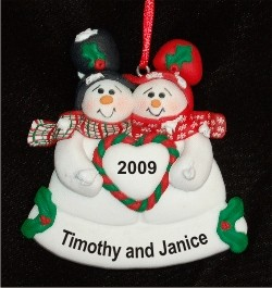 Our First Christmas Snow Couple