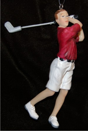 Male Golfer Perfect Swing