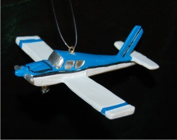 Blue & White Beechcraft Single Prop Airplane