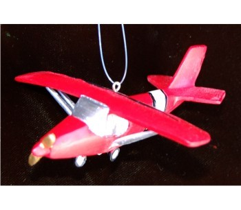 Red Cessna Gold-Single-Prop Airplane