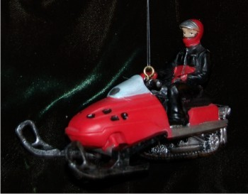 3D Red Deeptrack Snowmobile