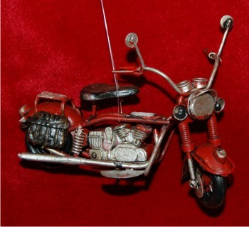 3D Red Vintage Motorcycle
