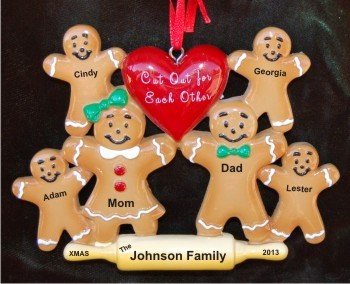 Gingerbread Family Cut Out for Each Other Family of 6