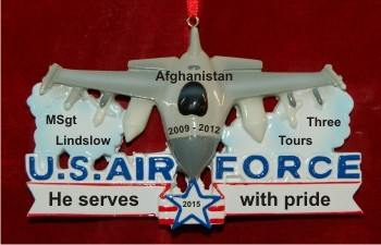 U.S. Air Force Fighter Jet Honor of Service