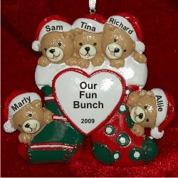 5 Bears Just the Kids Christmas Stockings