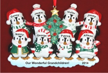 Our 8 Grandkids Penguin Fun