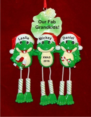 Fun, Froggy & Festive Our 3 Grandkids