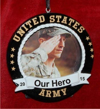 Army Photo Frame Black with Easel