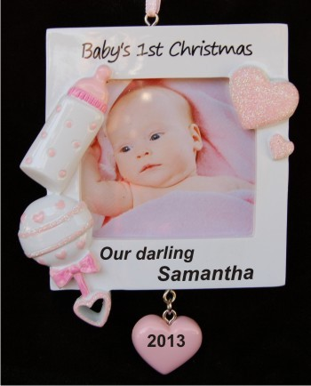 Our Darling Baby's 1st Christmas Frame Girl