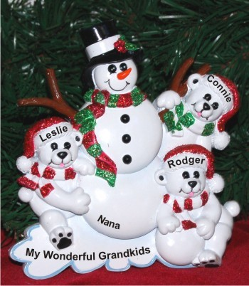 Grandmother with Three Grandkids Tabletop Decoration