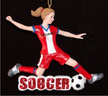 Female Soccer Player with Team Name