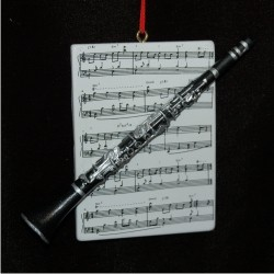 Clarinet with Musical Score