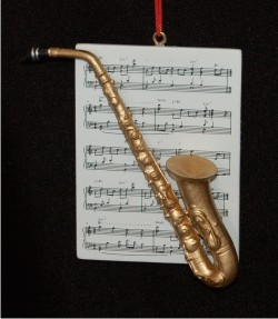 Saxophone with Musical Score