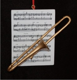Trombone with Musical Score