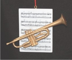 Trumpet with Musical Score
