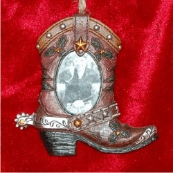 Brown Boot Western Ornament Frame