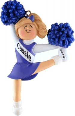 Cheerleader Blonde w/ Blue Uniform