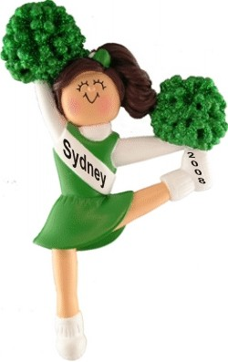 Cheerleader Brown w/ Green Uniform