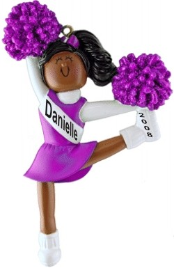 Cheerleader Purple Uniform African American