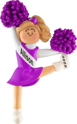 Cheerleader Blonde w/ Purple Uniform