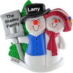 Top Hat Snow Family with Tree for 2