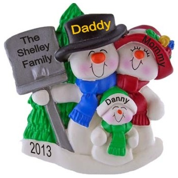 Top Hat Snow Family with Tree for 3